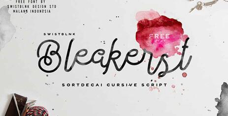 tipografia Bleakers